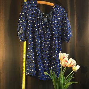Rain drop blue wellington blouse